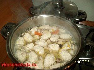 рецепт супа с кнелями