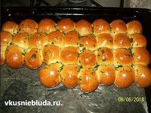 чесночные булочки
