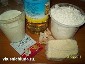 ингредиенты для чесночных булочек