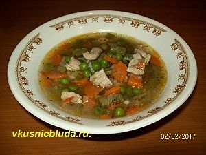 как сварить суп с овощами