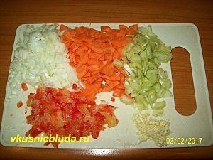 нарезка овощей для супа