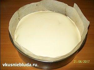 формируем торт тирамису