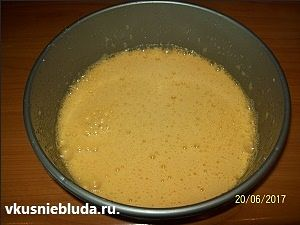 готовим тесто тирамису