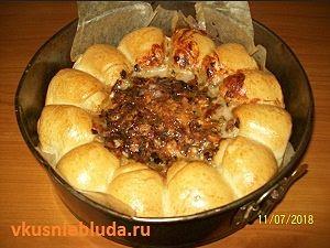 рецепт булочек с  соусом