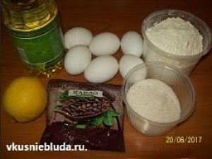 яйца какао сахар мука
