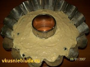готовим кекс с голубикой