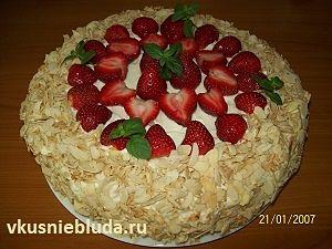 клубничный торт рецепт