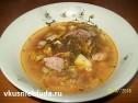 Куриный суп с щавелем.