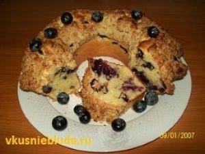 рецепт кекс с голубикой