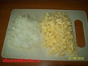 овощи для пирога с мясом