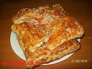 слоёный пирог с мясом рецепт