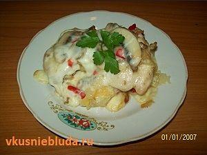 порция курица с овощами