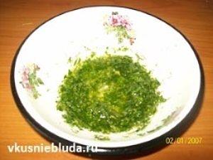 чеснок с зеленью для пампушек