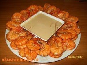 креветки жареные с соусом