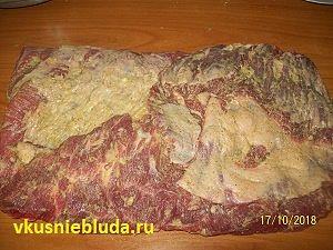 маринование говяжьей пашины