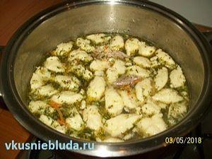 рецепт супа гречневого с клёцками
