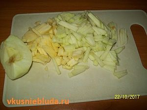 зеленое яблоко соломкой