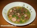 Гороховый суп с сосисками.