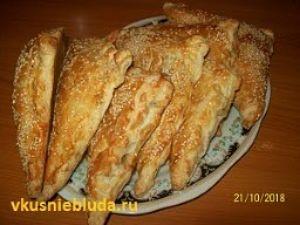 пирожки слоёные с мясом