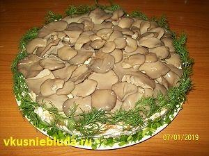 рецепт салат мясной с грибами