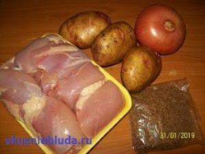 курица зира картофель лук