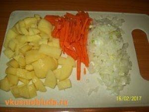 овощи для супа с клёцками