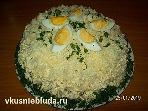 рецепт салат мясной с ананасами