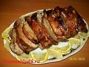 рецепт свинина с грушей