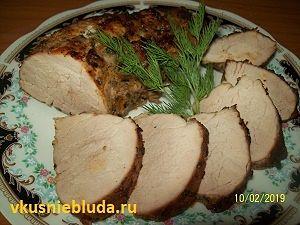 запеченное свиное филе