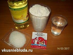 мука масло дрожжи сахар