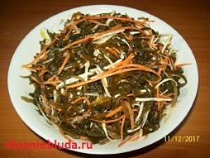 рецепт капуста морская по-корейски