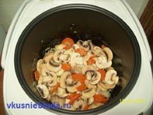 тушим овощи для риса