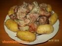 Молодая картошка с мясом.