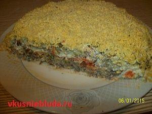 рецепт салата с печенью