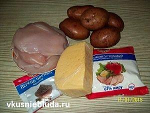 филе курицы картошка сыр специи