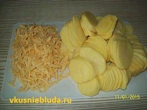 картофельные дольки сыр