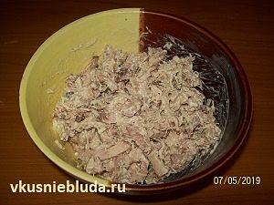 копчёная курица для салата