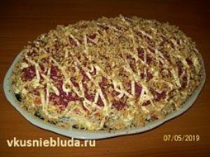 рецепт салат с копчёной курицей
