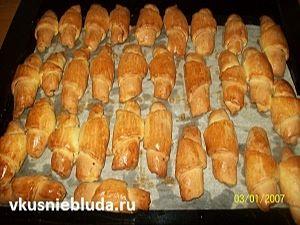 рецепт трубочек с орешками