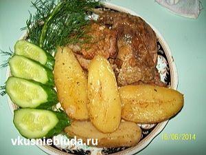приготовить утку с картошкой