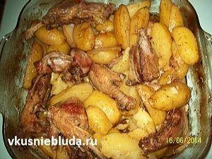 картошка с уткой