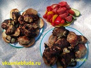 куриный шашлычок с овощами