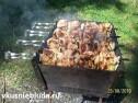 Куриный шашлык на мангале.