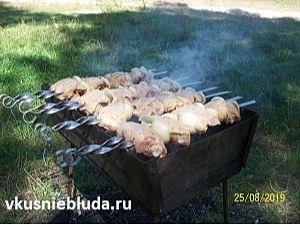приготовление шашлыка из курочки