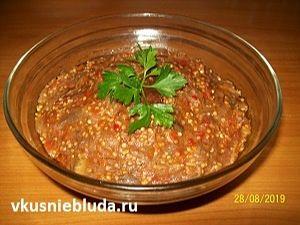 рецепт икра из баклажанов