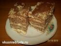 Бисквитный торт с орехами.