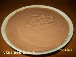 шоколадный крем для бисквита