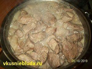 вкусный шашлык на сковородке