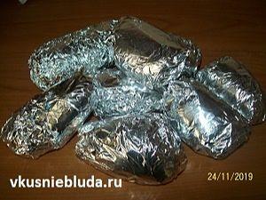 картошка в фольге для запекания