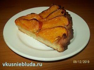 открытый пирог с хурмой